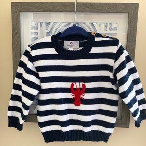 Nantucket Kids striped lobster sweater 🦞
